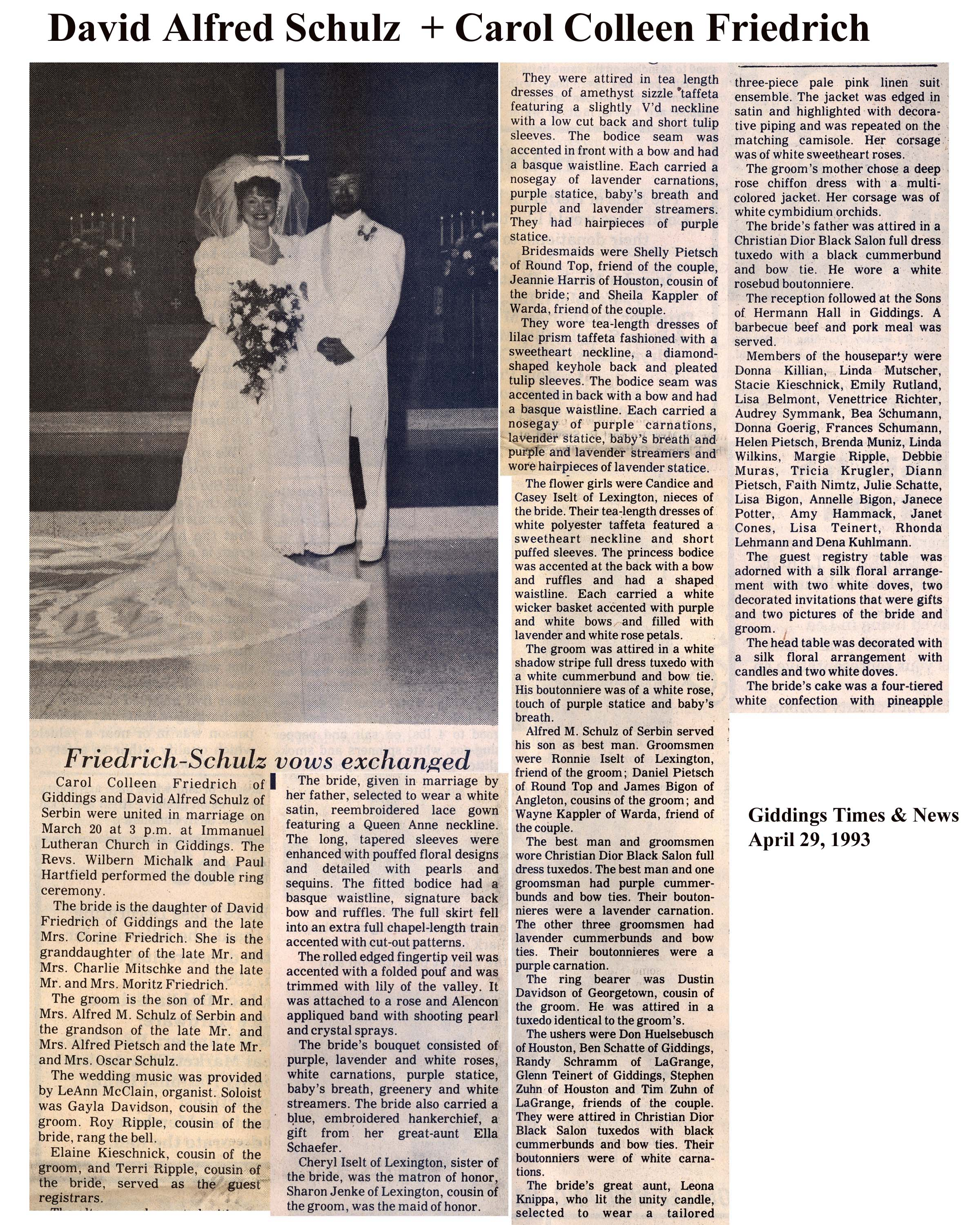 Marriage Surnames Beginning With Letter F: Lee County